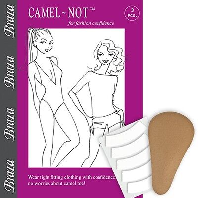 Braza Camel-Not Camel Toe Cover Foam Pad Inserts with Adhesive Tape Style S/3022