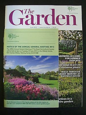 The Royal Horticultural Society. The Garden Magazine. June, 2013. VGC.