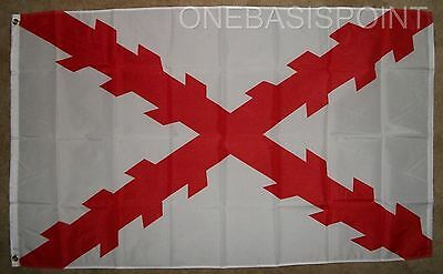 3'x5' Spanish Ensign Flag Cross of Burgundy Spain Navy Royal Military Naval 3X5