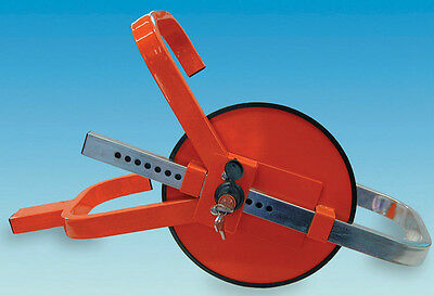 WHEEL CLAMP - Caravan / Motorhome / Trailer - Jupiter Wheelclamp RED