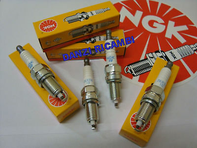 Kit 4 Candele Ngk Fiat Grande Punto 1.2 1200 1.4 1400 Natural Power Gas Metano