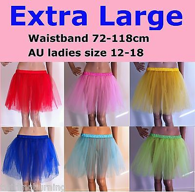【Extra Large】Womens Ballet Tutu Waistband 72-118cm Dancing Skirt Costume CS01/XL