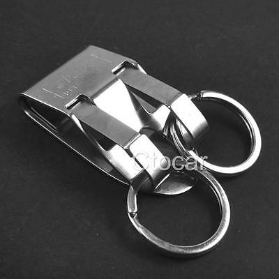 Quick release Keychain Belt Clip with two key ring snap holder Stainless steel