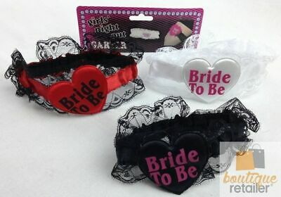 BRIDE TO BE GARTER Party Girls Hens Night Out Wedding Shower Bachelorette New