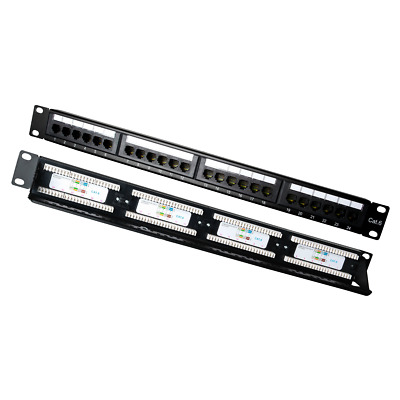 CAT5e Patch Panel 24 Port 1RU 110 Style for Voice and Data New 2 Years Warranty
