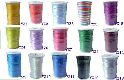 100yd/92 Metre Roll 2MM Rattail Satin Cord Thread - Kumihimo And Macrame Crafts