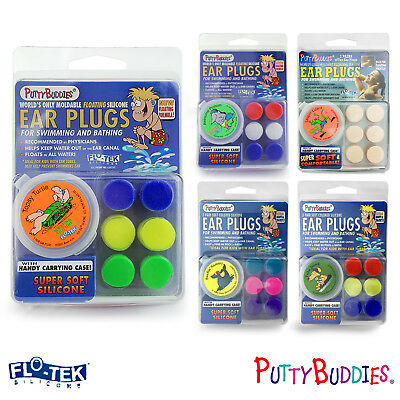 PUTTY BUDDIES Ear Band-It FLOTEK Silicone Floating 3 Pairs PLUGS - FREE UK P&P!