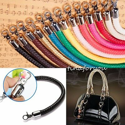 Leather Braided Purse Handle Shoulder Bags Belt Replacement Handbag Strap DIY
