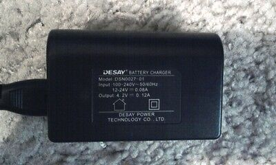 DESAY BATTERY CHARGER 4.2V .12A MODEL# DSN0027-01 WITH AC CORD 5 AVAILABLE
