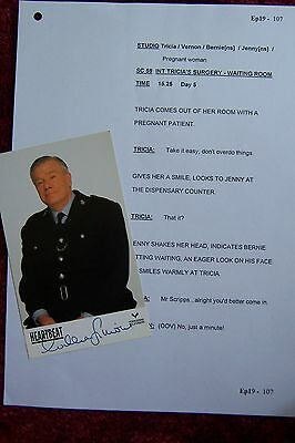 Heartbeat  William Simons PP Photo & one Genuine Vintage Script Page TV Police