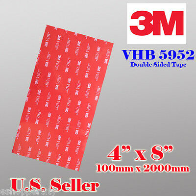 3M VHB Double Sided Foam Adhesive Sheet Tape 5952 Automotive Mounting Go Pro