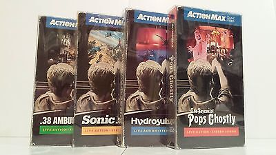 50 VHS Clear Plastic Slip on Covers Box Protectors Action Max