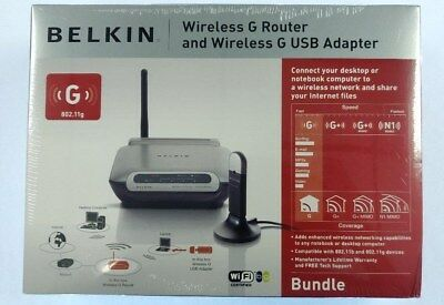 New Belkin Wireless G Router F5D7230 & USB adapter, **Buy two get one free**