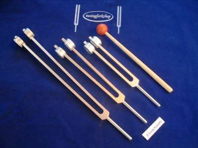 Otto Tuning forks 32,64 &128 Hz with Long 7.5 cm Handle for Good Grip for Bones
