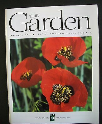The Royal Horticultural Society. The Garden Magazine. February, 2002. VGC.