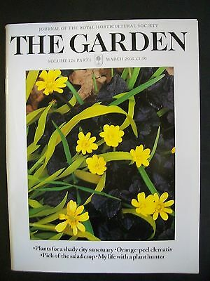 The Royal Horticultural Society. The Garden Magazine. March, 2001. VGC.
