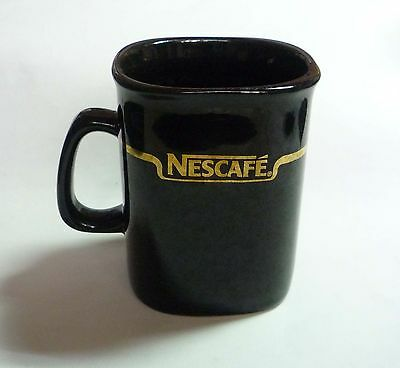 "NESCAFE COFFEE Vintage BLACK GOLD Mug Cup from MALAYSIA 3.5"" Tall Nestle 2002"