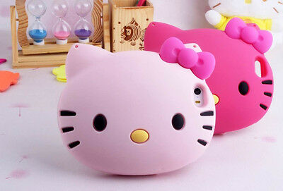 Big head 3D Hello Kitty Leather Chain Silicone Case For Iphone 5/5S/6G