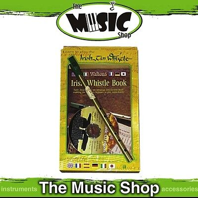 New Waltons Irish Tin Whistle Pack with Instruction Book & CD - Learn to Play