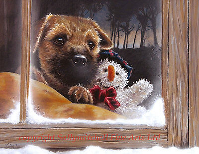 Border Terrier, dog Christmas cards pack of 10 by Paul Doyle C186x FROSTY