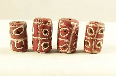 Antique VenetianWound Glass Trailed Eye  Early African Trade Beads - 4