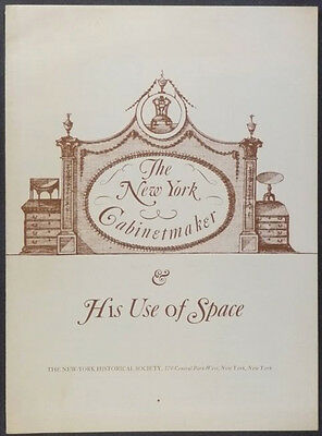ANTIQUE NEW YORK FURNITURE & CABINETMAKERS -1976 NYHS BICENTENNIAL EXHIBITION