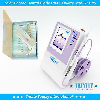 Dental Diode Laser 3 Watts Complete. Zolar Photon with 30 TIPS