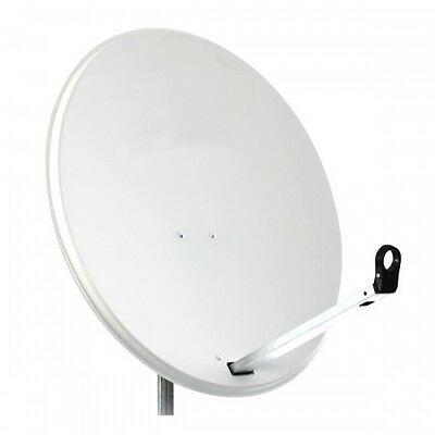 80CM High Quality Solid Satellite Dish & Fittings Astra Hotbird NC+ Sky Freesat
