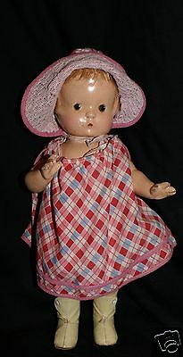 """Vintage composition  PATSY F&B Effanbee doll 13"""" to love as is or to repair"""