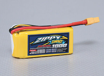 RC ZIPPY Compact 1000mAh 3S 35C Lipo Pack
