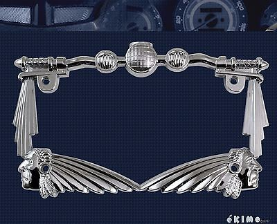 3D Handle Bar Indian Chief Chrome Metal Motorcycle License Plate Frame