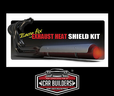 DIY Aluminum Exhaust Heat Shield Kit. Quick fit reduce heat transfer FAST!