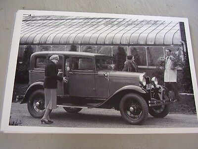 1930 1931  FORD A 4DR TOWN SEDAN    12 X 18 LARGE PICTURE   PHOTO
