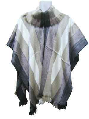 Soft & Beautiful Alpaca Ibarra Poncho Turtleneck