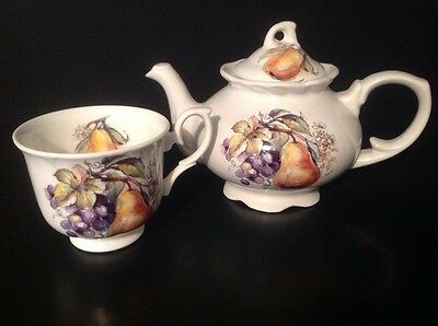 Vintage Arthur Wood & Son Staffordshire England Teapot and Cup 6420