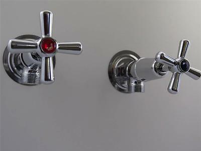 Washing machine taps with easy clean handles chromed brass, Ramtaps