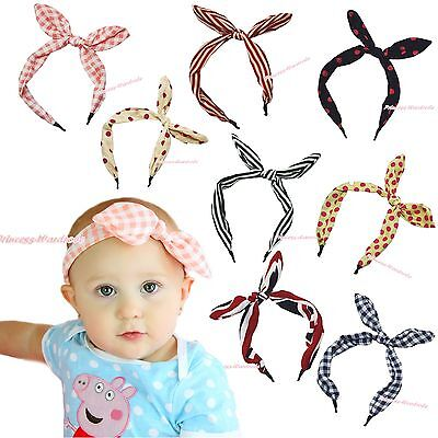 Cute Fashion Rabbit Bunny Ear Bow Headband Baby Girl Kids Adult Hair Accessory