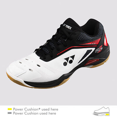 Yonex Badminton/Squash Indoor Shoes SHB65Z, Power Cushion+, White/Red, Latest