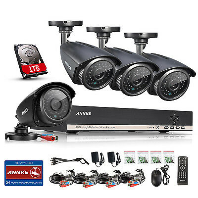 SANNCE 8CH HDMI Home Security DVR 8 800TVL In/Outdoor Night CCTV Cameras System