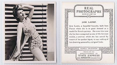 Real Photographs Series 13 (Actresses) - Ardath 1939 - #47 Jane Laurie