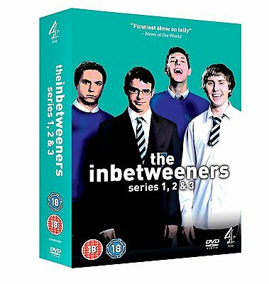 """The Inbetweeners 1-3 Complete Series Collection 3 Discs Dvd Box Set """"new&sealed"""""""