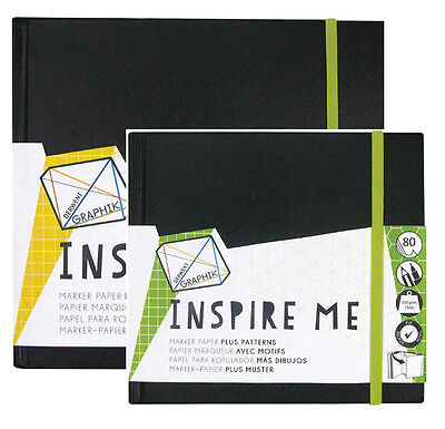 Derwent INSPIRE ME Sketchbook Paper Pad - for Graphik Line Maker Marker Pens