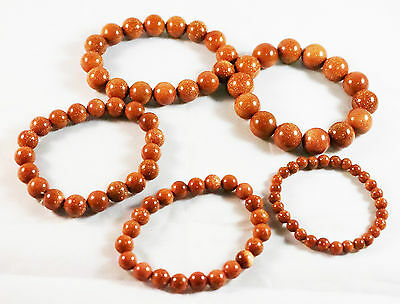 Tibetan Buddhist Gold Sandstone Prayer Beads Bracelet