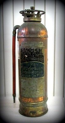 Vintage/Antique/Collectible Badger's Metal Fire Extinguisher