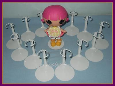 U.S SHIPS FREE 12 White Kaiser Doll Stands fits LaLaLoopsy
