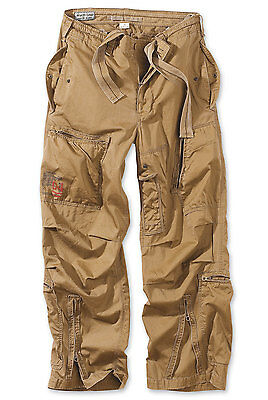 Surplus Infantry Cargo Pants Mens Vintage Army Baggy Combat Trouser Washed Sand