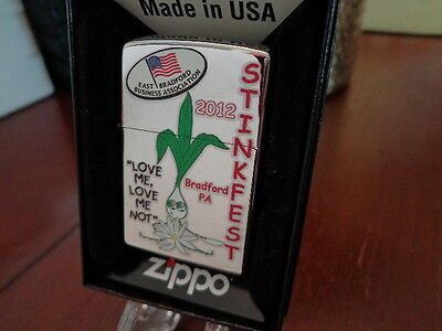Stinkfest Bradford Pa Love Me Leek Zippo Lighter Limited Edition 2012 45/100