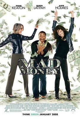 MAD MONEY MOVIE POSTER 2 Sided ORIGINAL FINAL 27x40 DIANE KEATON KATIE HOLMES
