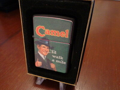 Camel I'd Walk Mile Zippo Lighter Mint 1995