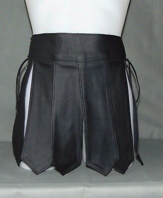 Muay Thai Echt Leder Rock Schwarz*gladiator Kilt*leather Kilt*gay* Xxl